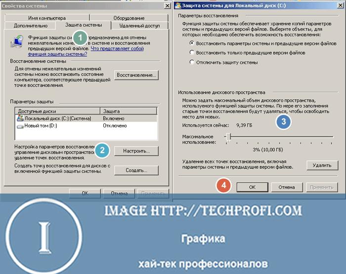 Доступное место для папки System Volume Information