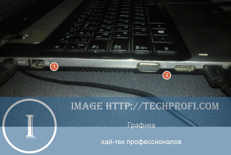 Передняя панель ноутбука