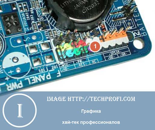 Блок F-Panel для подключения разъемов передней панели